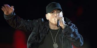 Eminem performs during The Concert for Valor in Washington, D.C.