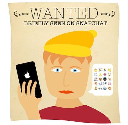 iphone user cartoon