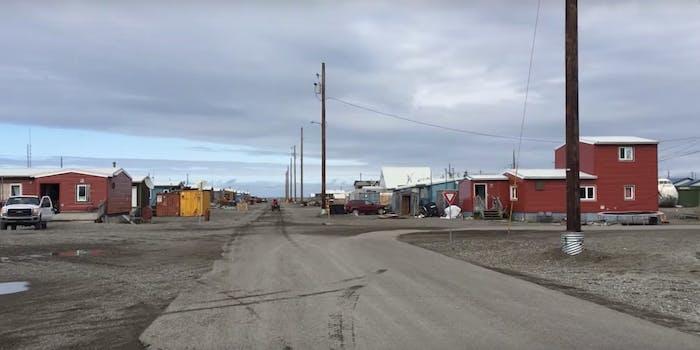Global warming is allowing broadband internet access in Point Hope, Alaska.