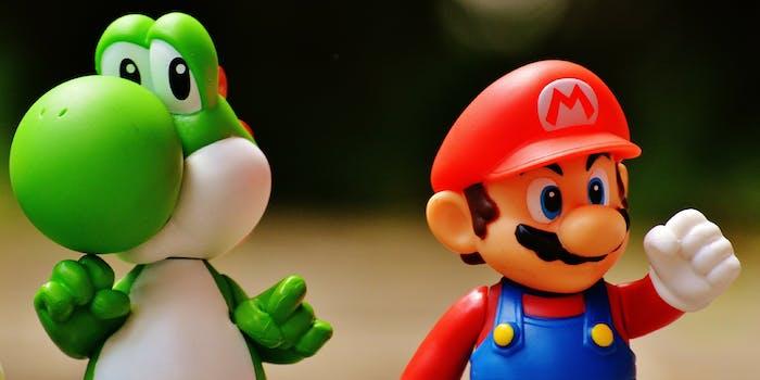 Mario and Yoshi figurines