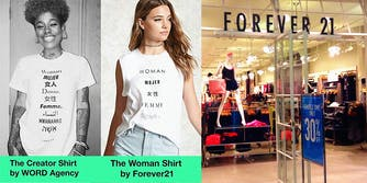 Forever 21 shirt design lifted from an independent producer