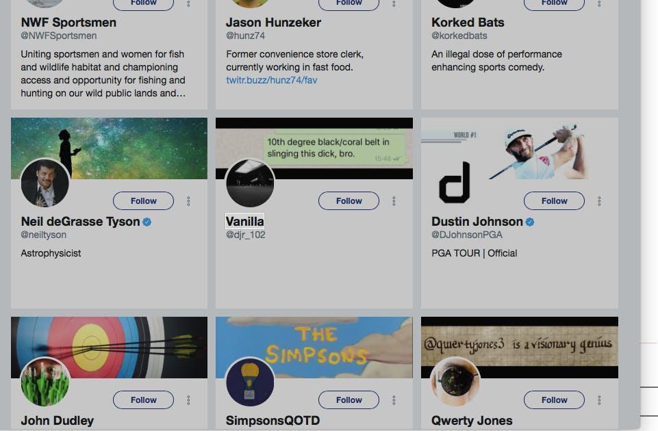 donald trump jr twitter following list