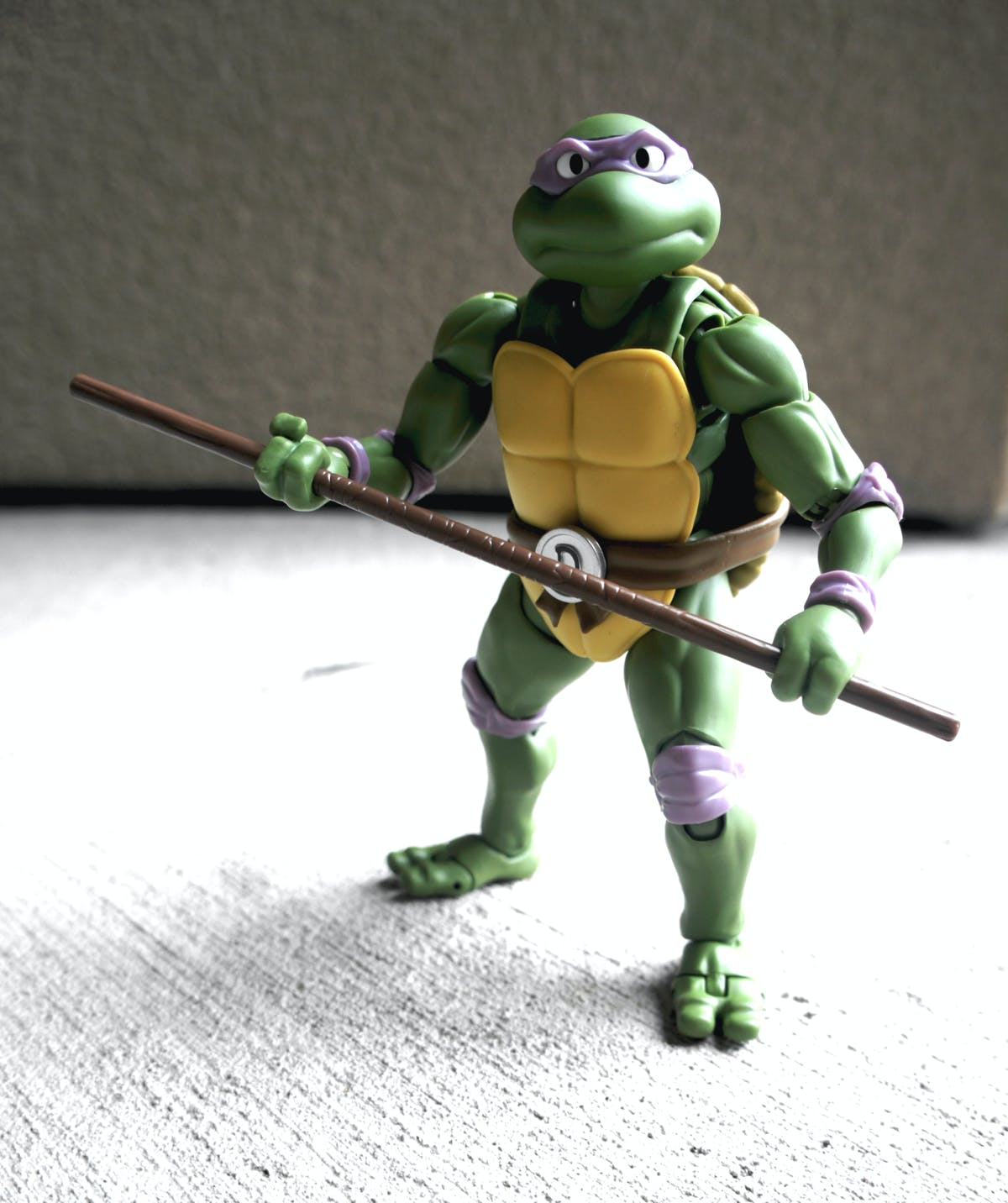 All pizzas aside, Donatello is deadly serious in battle.
