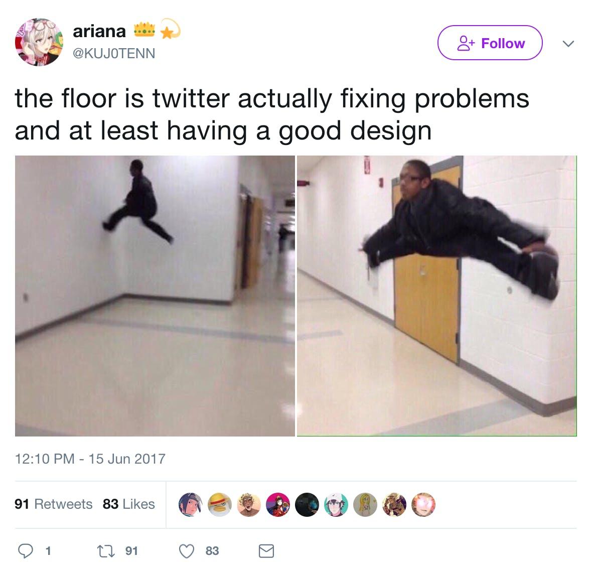 2017 memes : the floor is