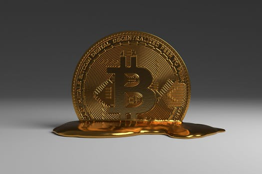 bitcoin cryptocurrency melting