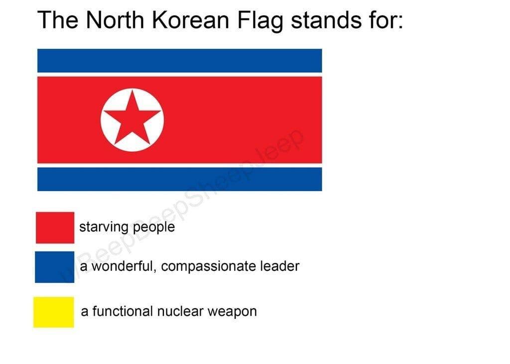 north korea flag meme nuclear weapons