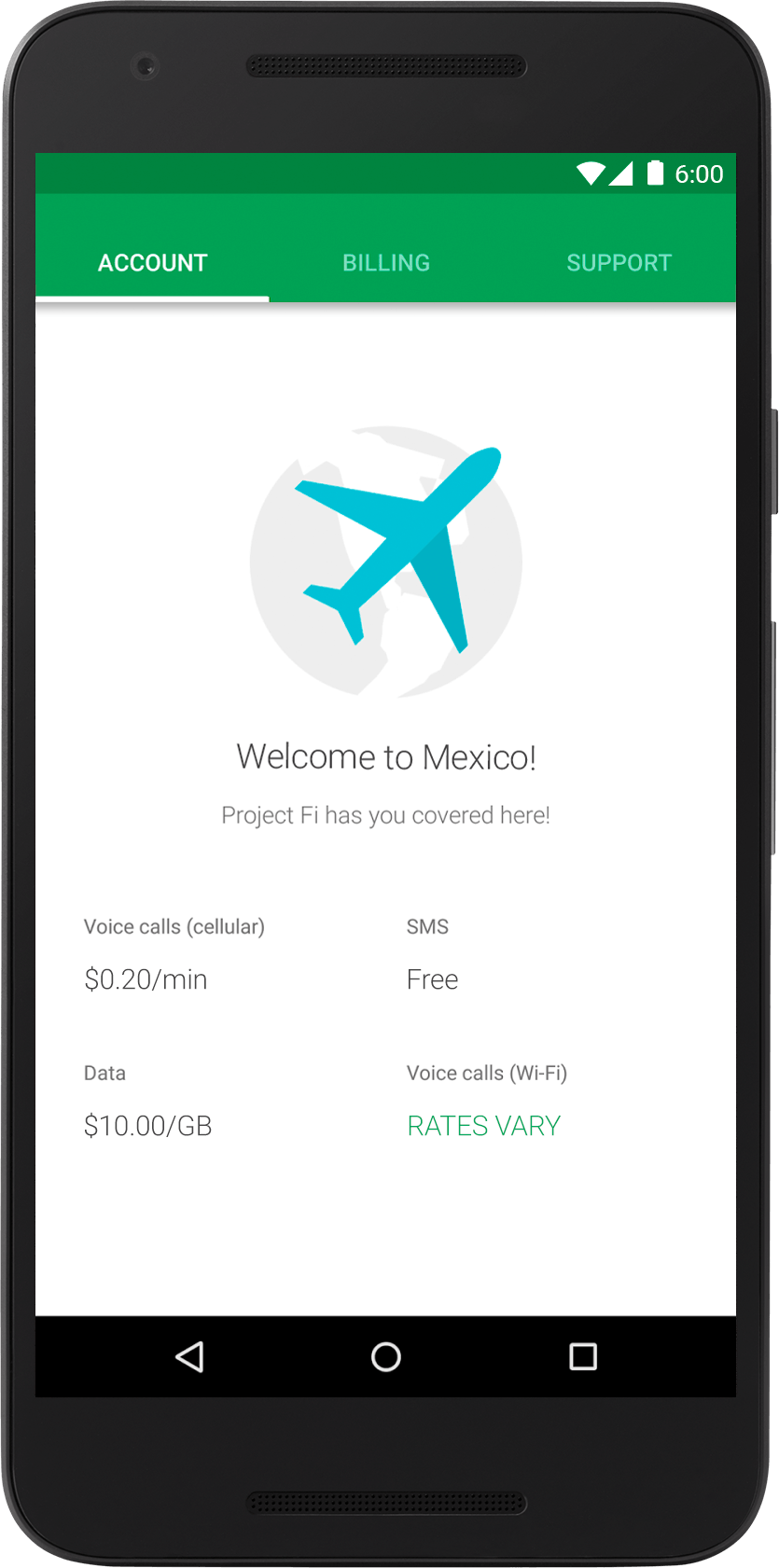 How much does Project Fi cost? google project fi international fees