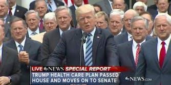 Donald Trump AHCA celebration Mark Meadows