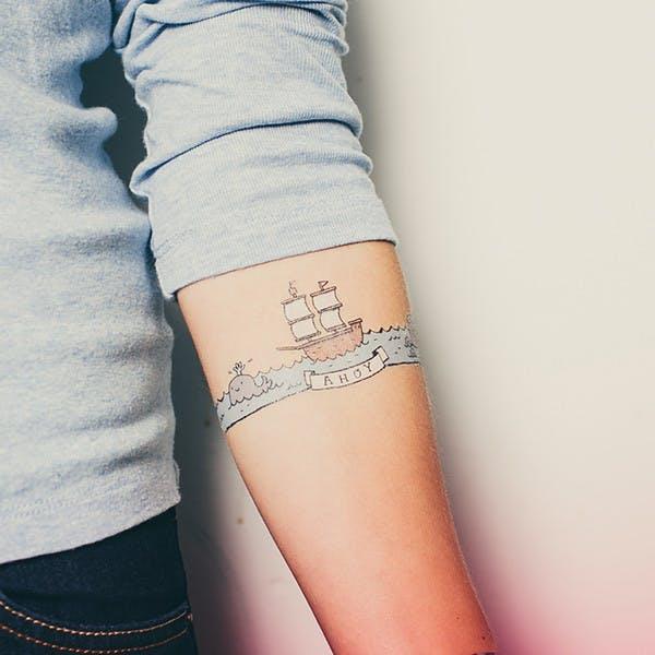 Ahoy tattoo from Tattly