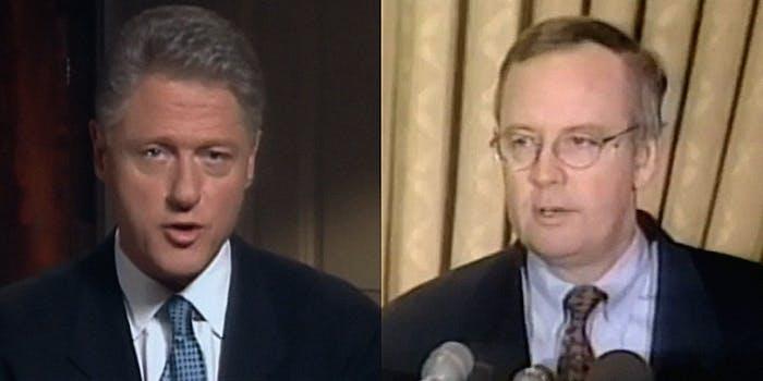 Bill Clinton and Kenn Starr