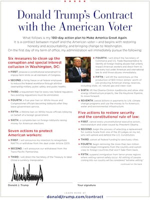 Donald Trump Contract with the American Voter