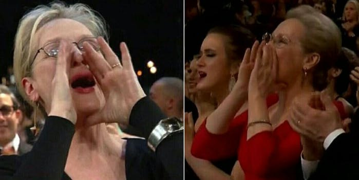 Meryl Streep meme updated at the Oscars.