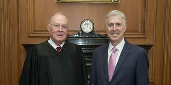 Supreme Court Justices Anothony Kennedy and Neil Gorsuch