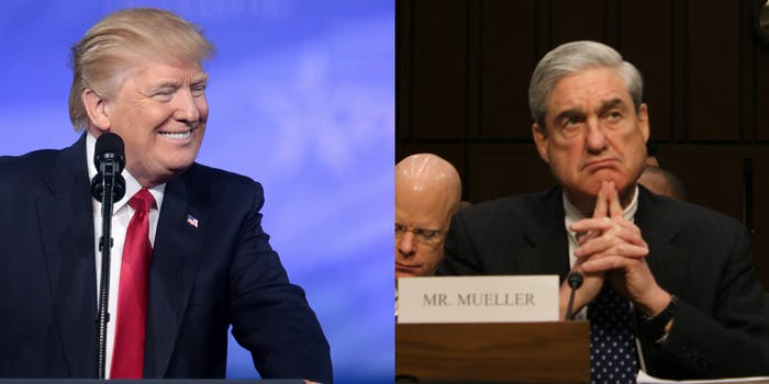 President Donald Trump's team of lawyers are looking at ways to limit and discredit the investigation by special counsel Robert Mueller