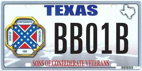 This is the license plate that sparked the court battle.