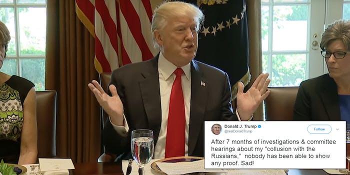 Trump tweeted again.