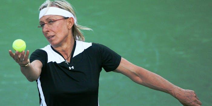 Martina Navratilova alleges an enormous pay gap between herself and commentator John McEnroe.
