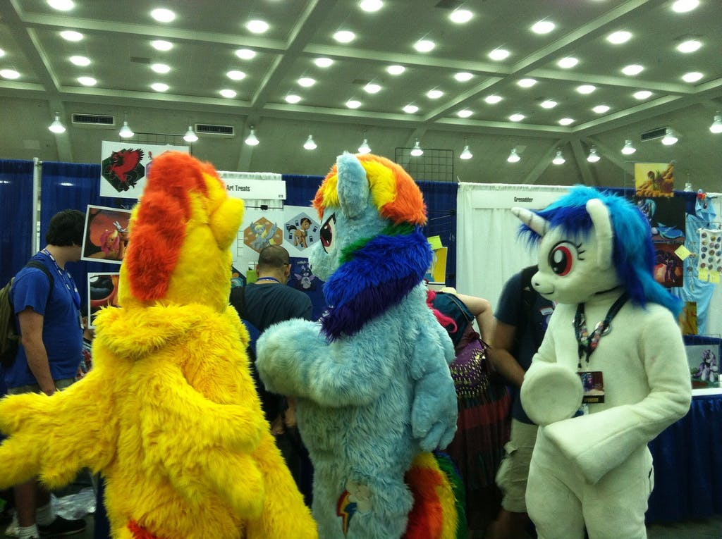 Bronies at brony convention.