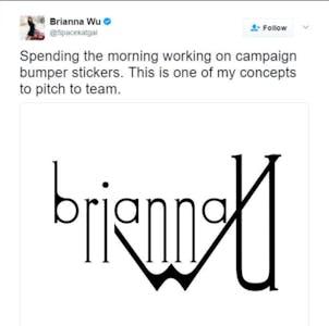 brianna wu logo twitter: screengrab of brianna wu deleted tweet