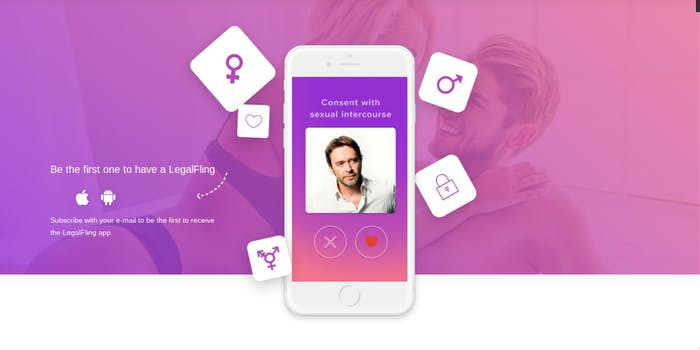 A new app called LegalFling lets users create legally binding sex contracts.