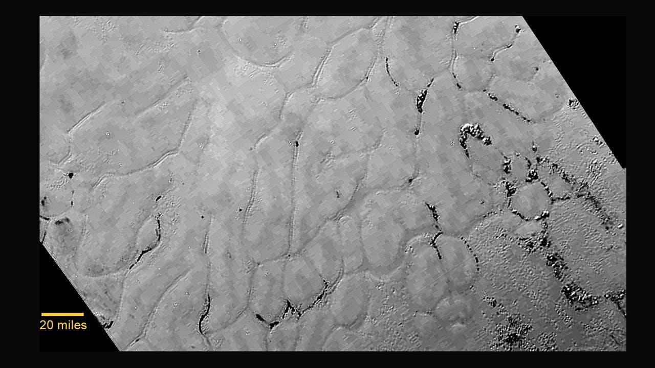"""Sputnik Planum's """"enigmatic"""" surface belies a complex geological history"""