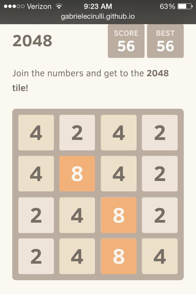 2048 pattern