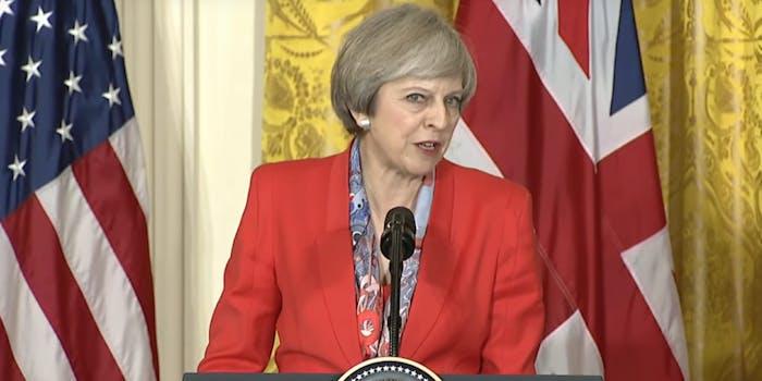 UK Prime Minster Theresa May