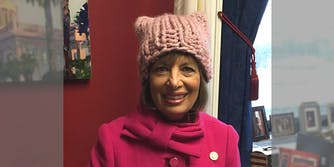 Rep. Jackie Speier from California attending the Women's March in 2017.