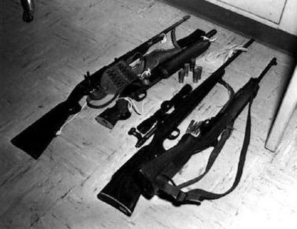 FBI photo of Charles Whitman's arsenal