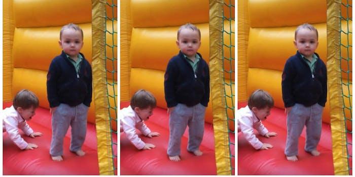 Bouncy house cool kid