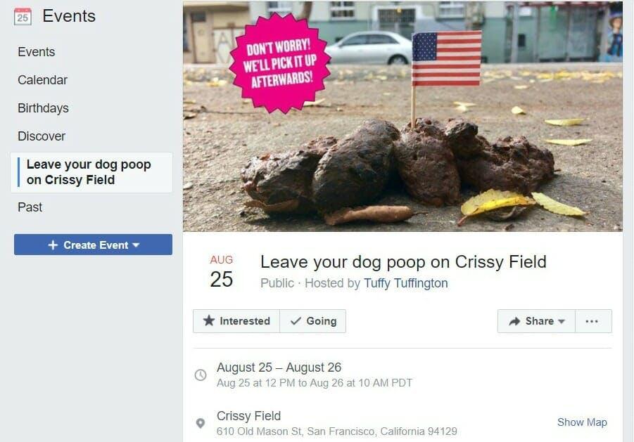 San Francisco dog poop rally