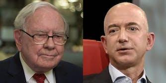Warren Buffett and Jeff Bezos