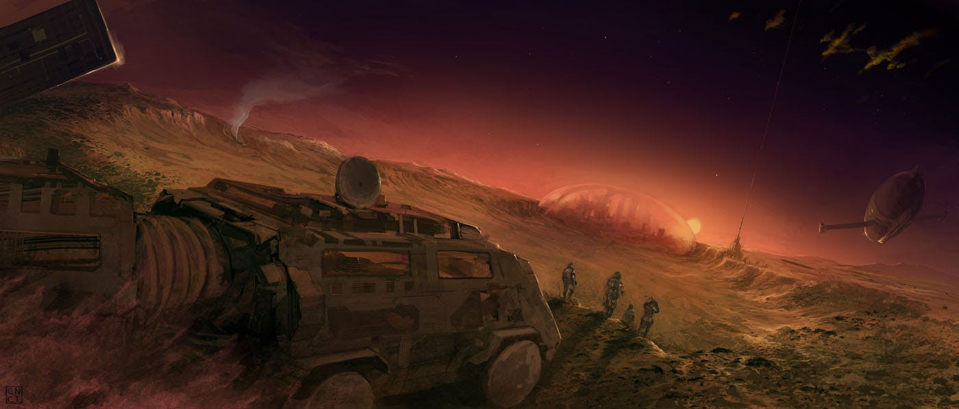 Fanart for the first in Robinson's Mars trilogy, 'Red Mars'