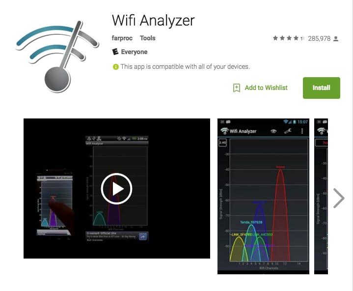 how to make wifi faster: wifi analyzer