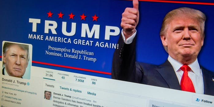 donald trump president twitter account