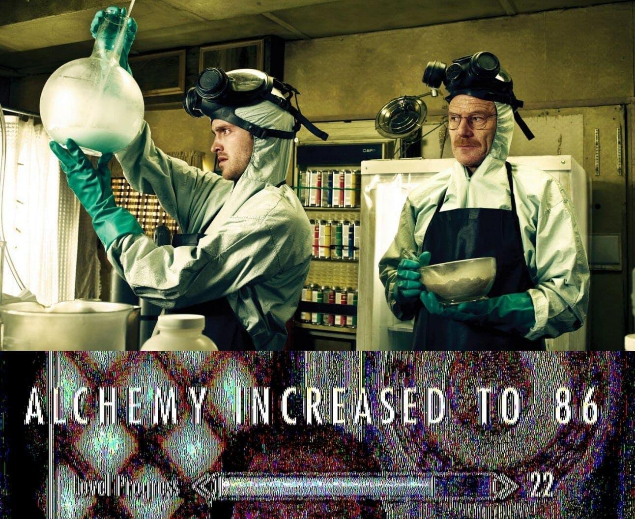 breaking bad skyrim alchemy meme