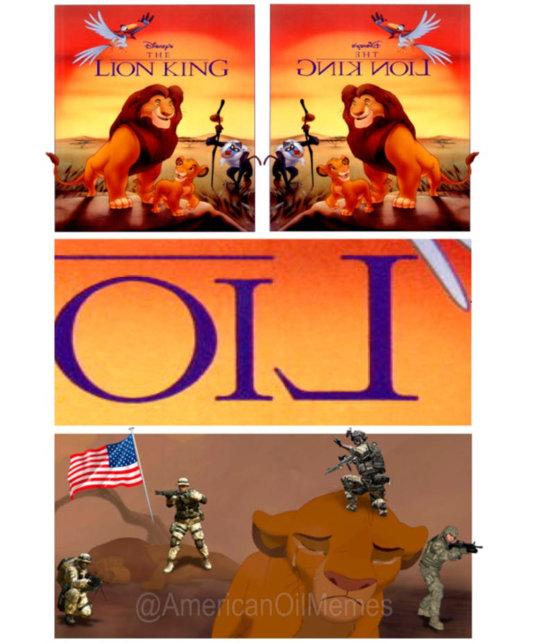 oil memes lion king