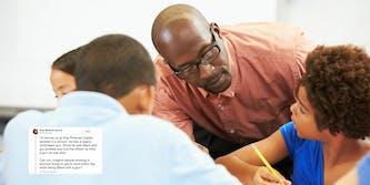 black teacher classroom