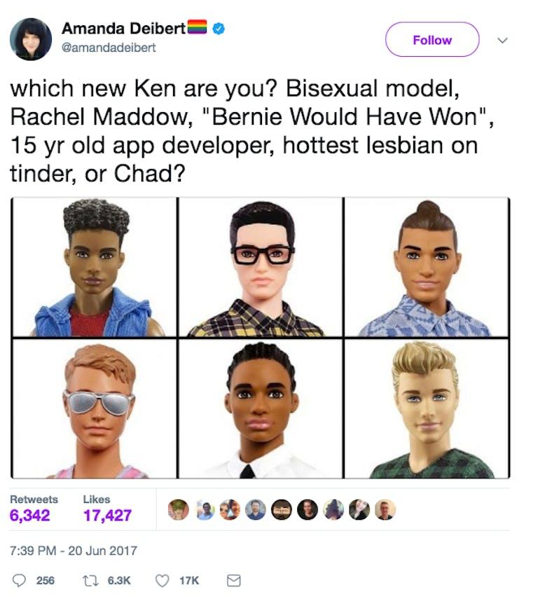 new ken doll man bun memes