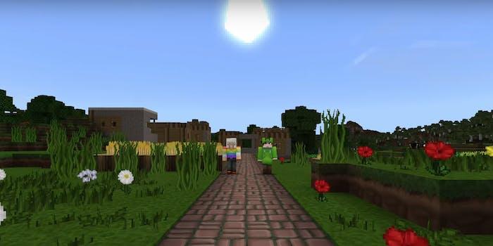 minecraft platforming video game