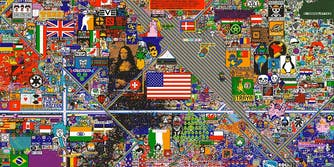 Pixel art collaboration project from Reddit
