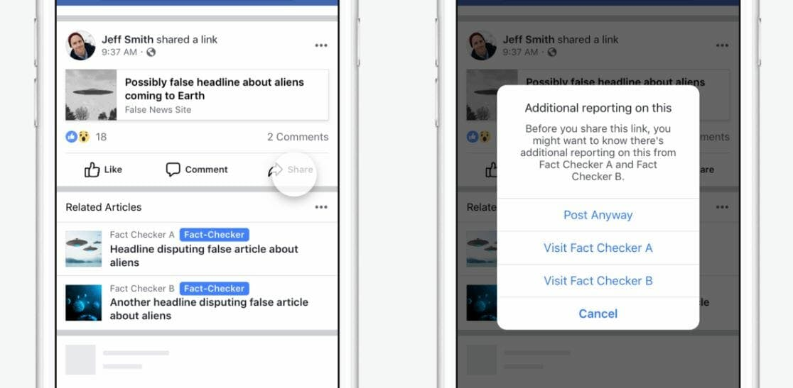 facebook related articles fake news