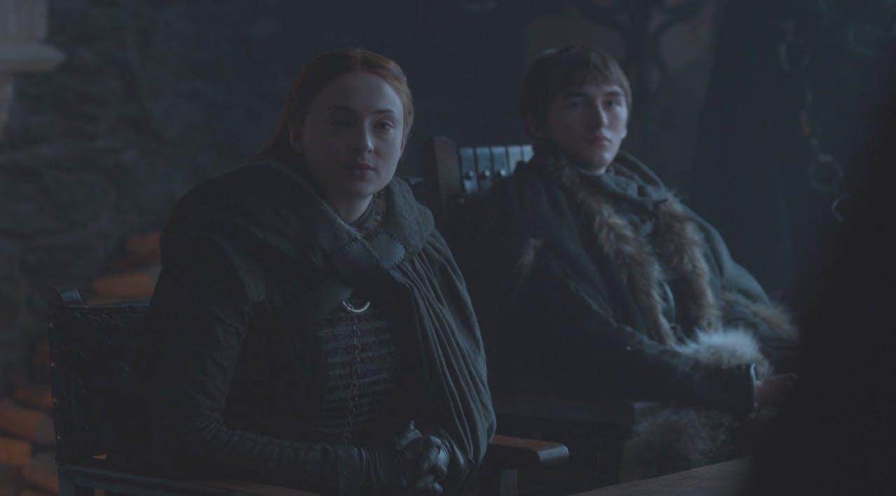 sansa and bran stark