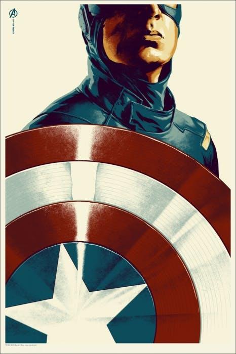 Captain America by Phantom City Creative, Mondo.