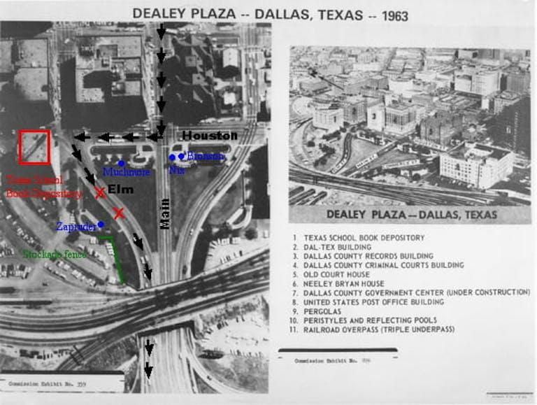 JFK files : JFK Motorcade Through Dealey Plaza