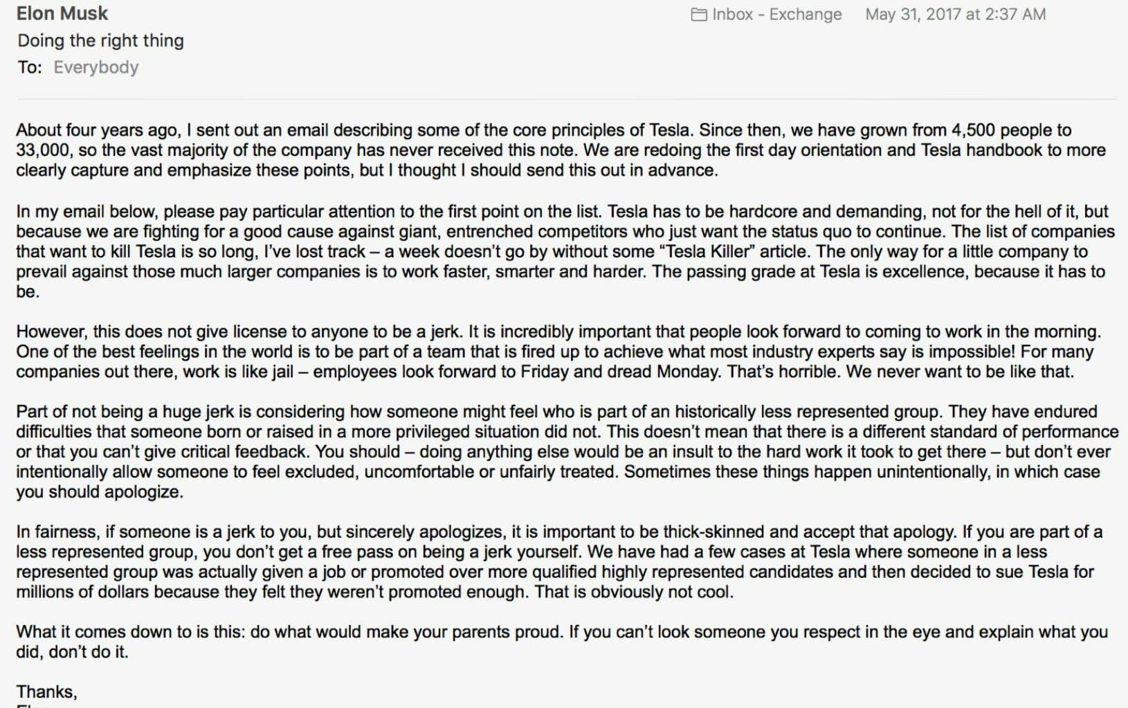 elon musk letter to employees lawsuit