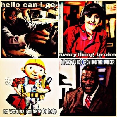popular memes : shaq everything broke