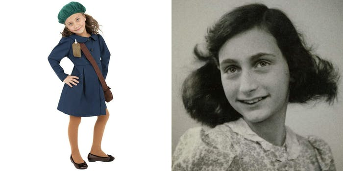 "Anne Frank and ""World War 2 Girl"" Halloween costume"