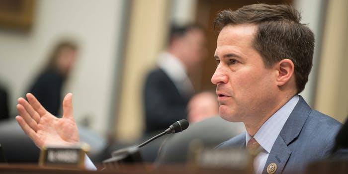 U.S. Rep. Seth Moulton questions senior military leaders during a House Armed Services Committee