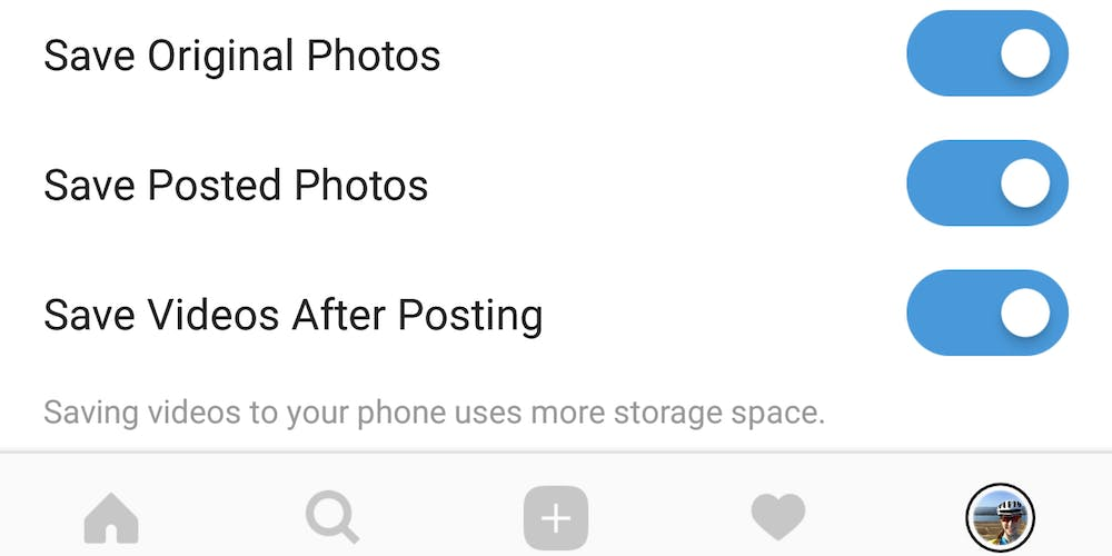 how to save instagram videos : Instagram Save Videos toggle